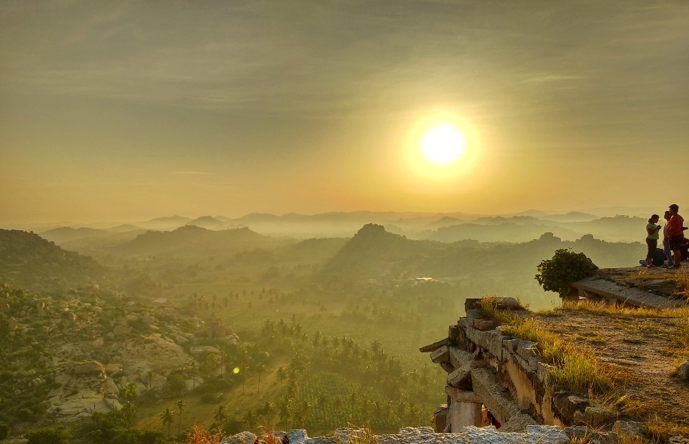 Sunrise and Sunset points in Hampi